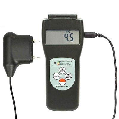 Medidor de Umidade de Madeira, Concreto, Papelão Saída USB IP-7825PS