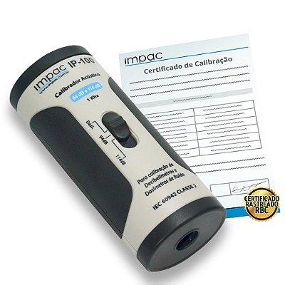 Calibrador Acústico Decibelímetro Tipo 2 + Certificado de Calibração Rastreável