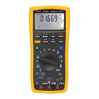 Multímetro Digital Profissional Datalogger IP-890DL Impac