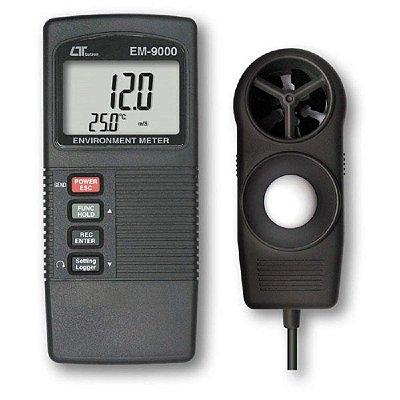 Termo Higro Anemômetro Luxímetro EM-9000