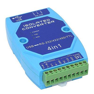Módulo Conversor USB para RS-232 RS-485 RS-422 IP-6012 Impac