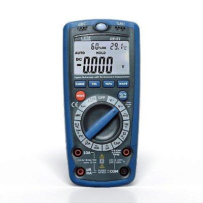 Luxímetro Digital Multifunções 5 em 1 DT-51 CEM