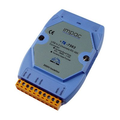 Módulo Conversor 3 portas RS-485 para USB IP-7563