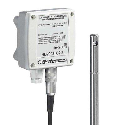 Transmissor de Velocidade do Ar Fio Quente HD-2903 Delta Ohm