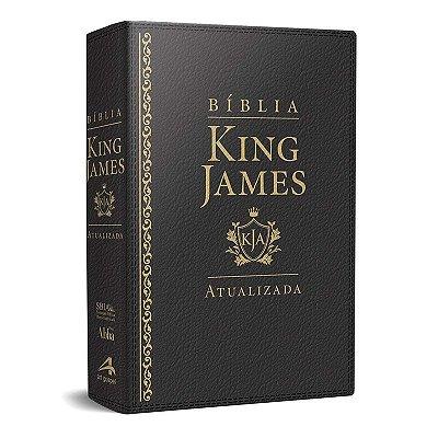 Bíblia King James Atualizada KJA (Capa Luxo Preta)