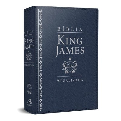 Bíblia King James Atualizada KJA (Capa Luxo Azul)