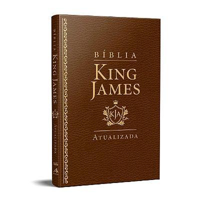Bíblia King James Atualizada KJA Slim (Capa Luxo Marron)