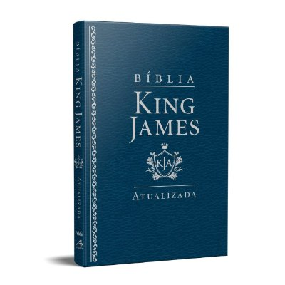 Bíblia King James Atualizada KJA Slim (Capa Luxo Azul)