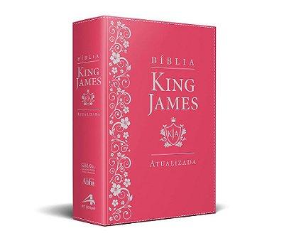 Bíblia King James Atualizada KJA (Capa Luxo Pink)
