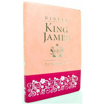 Bíblia King James Atualizada KJA Slim (Capa Luxo Rosa)