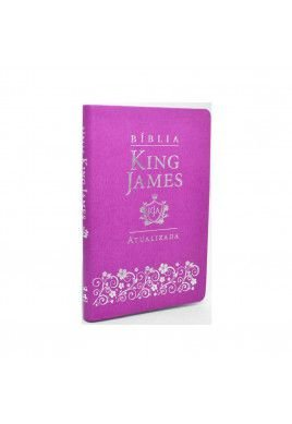 Bíblia King James Atualizada KJA Slim (Capa Luxo Lilás)