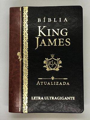 Bíblia King James Atualizada KJA Letra Ultragigante (Capa Luxo Preta)
