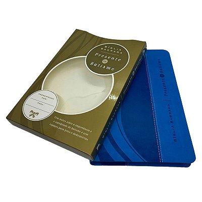 Bíblia Presente de Batismo NVI (Capa Luxo Azul)
