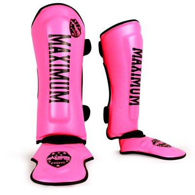 Caneleira de Muay Thai e Kickboxing Maximum - Pink