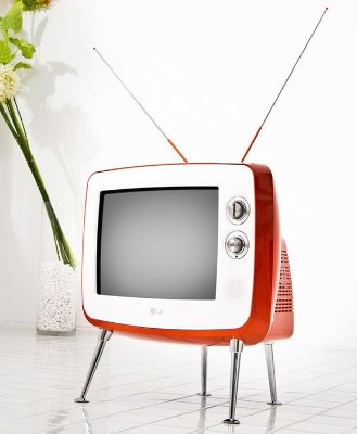 TV Retrô LG 14 polegadas 14SR1AB Tela Plana