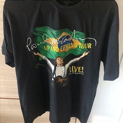 Camisa tamanho G, Boné e ingresso oficiais da Turnê Up and Coming de Paul McCartney (2010)