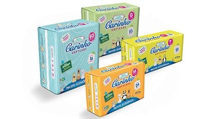 Fralda Infantil Carinho Premium Econômica M 24 unidades