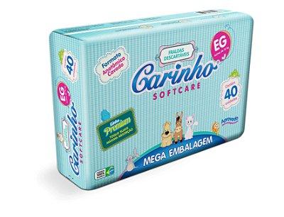 Fralda Infantil Carinho Premium Mega EG 40 unidades