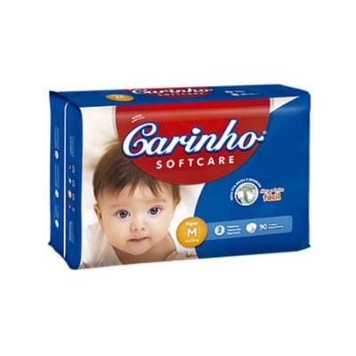 Fralda Infantil Carinho Premium Hiper M 90 unidades