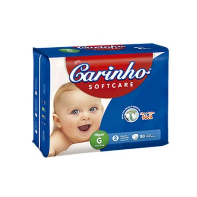 Fralda Infantil Carinho Premium Hiper G 80 unidades