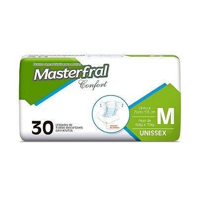 Fralda Geriátrica Masterfral Confort Mega M 30 Unidades