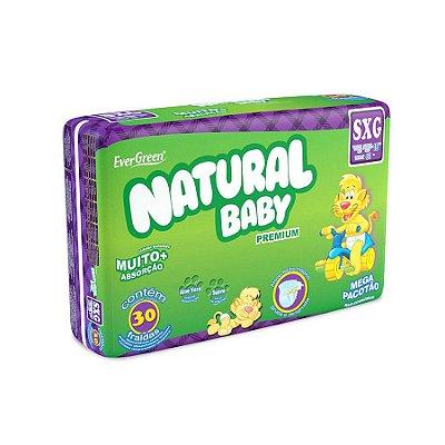 Fralda Infantil Natural Baby Premium Mega SXG 30 Unidades