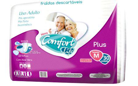 Fralda Geriátrica Comfort Life M 30 unidades