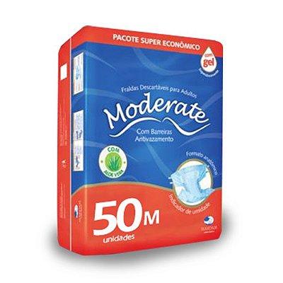 Fralda Geriátrica Moderate Super M 50 unidades