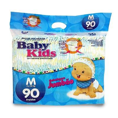 Fralda Infantil Baby Kids Jumbão M 90 unidades