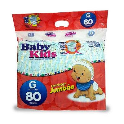 Fralda Infantil Baby Kids Jumbão G 80 unidades