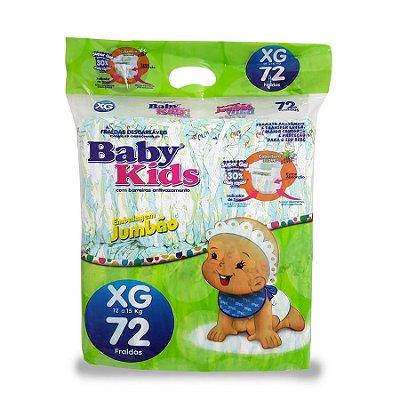 Fralda Infantil Baby Kids Jumbão XG 72 unidades