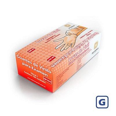 Luvas de Vinil Descarpack com pó G 100 Unidades