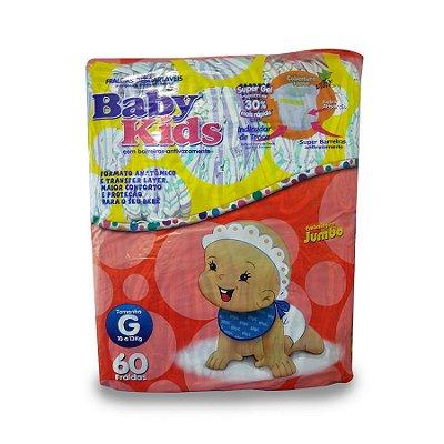 Fralda Infantil Baby Kids Jumbo G 60 unidades