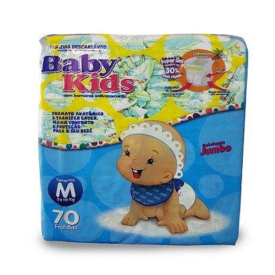 Fralda Infantil Baby Kids Jumbo M 70 unidades