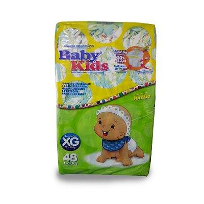 Fralda Infantil Baby Kids Jumbo XG 48 unidades