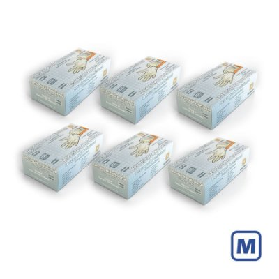 Luva de Látex Descarpack com pó M (Kit com 2000 unidades)