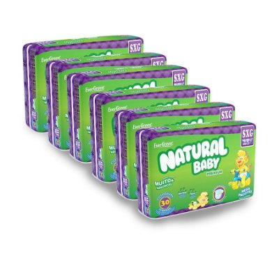 Fralda Infantil Natural Baby Premium Mega SXG (Kit com 180 Unidades)