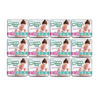 Fralda Infantil Natural Baby Premium RN (Kit com 240 Unidades)