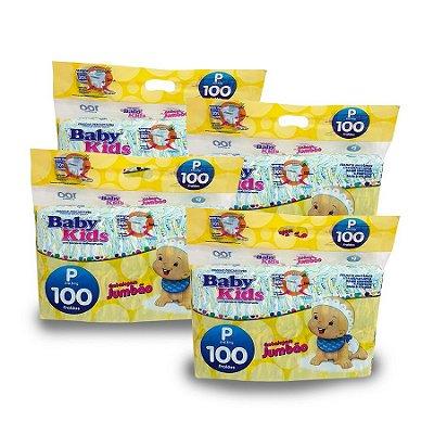 Fralda Infantil Baby Kids Jumbão P (Kit com 400 unidades)