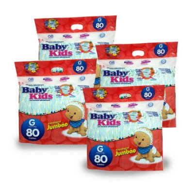 Fralda Infantil Baby Kids Jumbão G (Kit com 320 unidades)