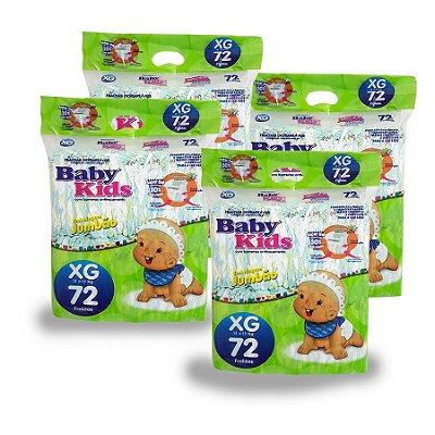 Fralda Infantil Baby Kids Jumbão XG (Kit com 288 unidades)