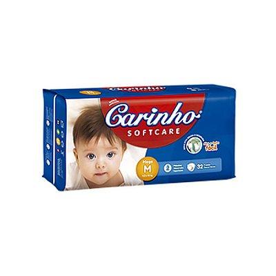 Fralda Infantil Carinho Premium Mega M 32 unidades
