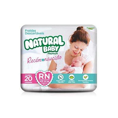 Fralda Infantil Natural Baby Premium RN 20 Unidades