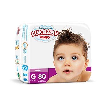 Fralda Infantil Luk Baby Jumbo G 80 unidades