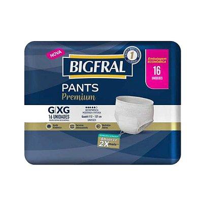 Roupa Íntima Bigfral Pants G/XG 16 Unidades
