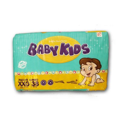 Fralda Infantil Baby Kids Jumbo XXG 38 unidades