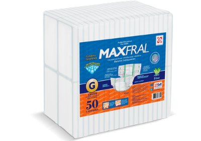 Fralda Geriátrica Maxfral Super G 50 Unidades