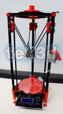 Kit impressora 3D Kossel mini TEK3D Bowden 1.75mm