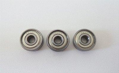 Rolamento 624zz Od=13mm X Id=4mm X Alt=5mm - kit com 3 unidades