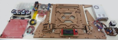Kit Impressora 3d Graber Tek3d - MDF Cru 6mm